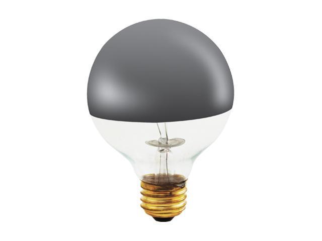 Half Chrome Globe Shape Light Bulbs - 12 Bulbs (40w)