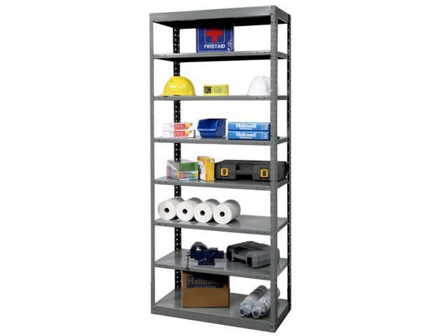 87 in. High 8-Tier DuraTech Pass-Through Steel Shelf in Gray (36 in. W x 12 in. D x 87 in. H)