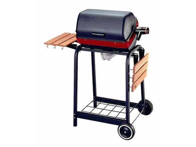 Deluxe Electric Cart Grill in Black and Red