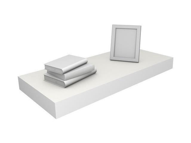 Eco Friendly 23.6 in. Floating Shelf in White