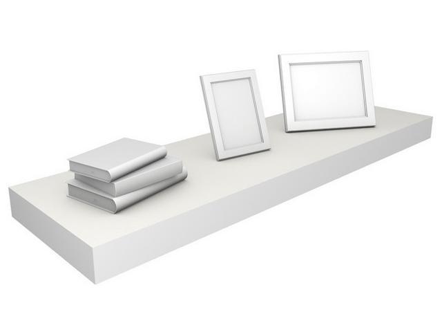 Eco Friendly 35.4 in. Floating Shelf in White