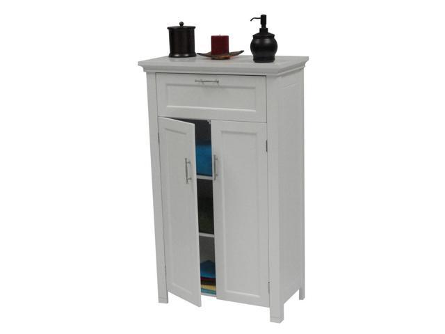 2-Door Floor Cabinet - White
