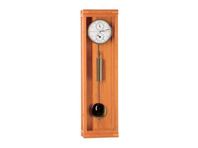Hermle Wall Clock w Regulator Dial in Polished Cherry Wood Finish
