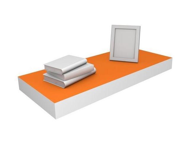 Eco Friendly 23.6 in. Floating Shelf in Orange