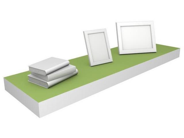 Eco Friendly 35.4 in. Floating Shelf in Green