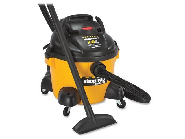 Shop-Vac Corp Vacuum, Wet/Dry, 6 Gallon, 3.0 Hp, 12 Ft Cord, Yellow/Black
