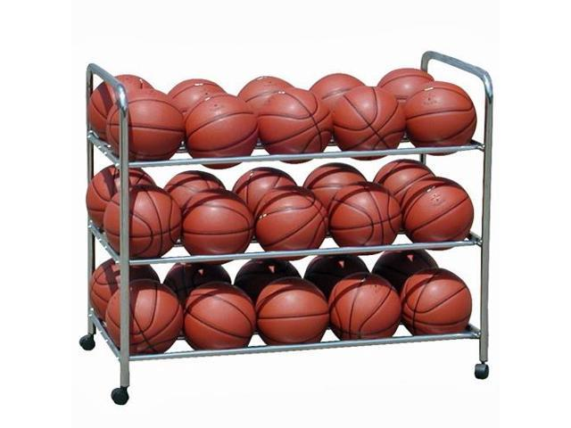 Sports Ball Cart - Double-Wide, Three-Level with Steel Frame