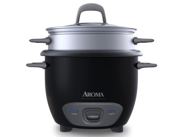 6-Cup Pot Style Rice Cooker in Black