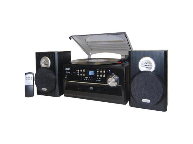 3-Speed Turntable with CD, Cassette and AM/FM Stereo Radio