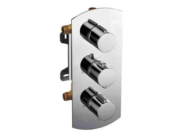 Modern Single Lever Shower Mixers in Polished Chrome Finish