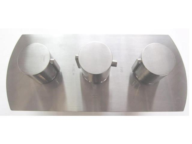 Modern Single Lever Shower Mixers in Brushed Nickel Finish