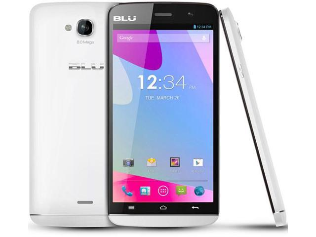 BLU Studio 5.5 s D630u White 4G (Unlocked) Dual-SIM Smartphone Refurb