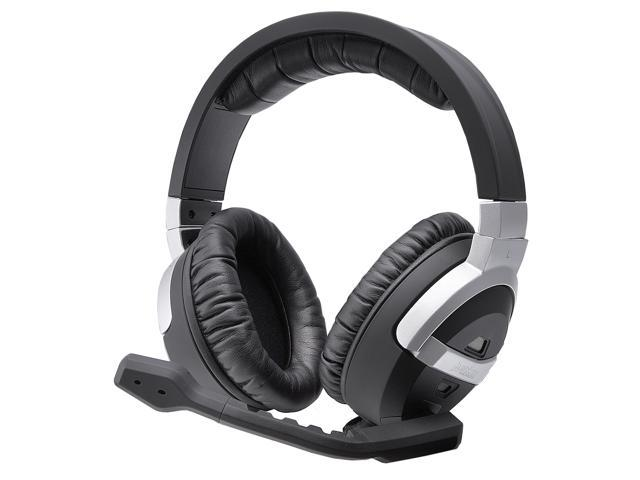 Perixx AX-5000 3D Surround 53mm Gaming Headset w/ Active Noise-Cancelling - Rubber Black Surface with Aluminium Housing