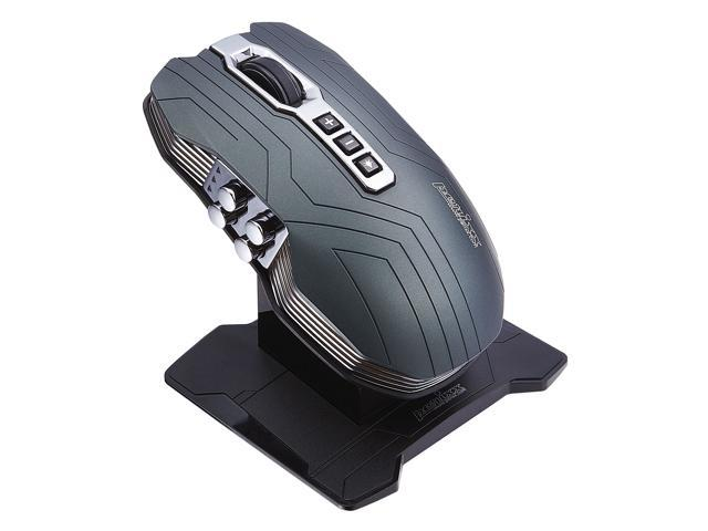 Perixx MX-3200, 2-in-1 Wired and Wireless Gaming Laser Mouse - Avago 5000dpi ADNS 9500 Laser Sensor - Charging Dock with Li-ion Battery - Dual ...