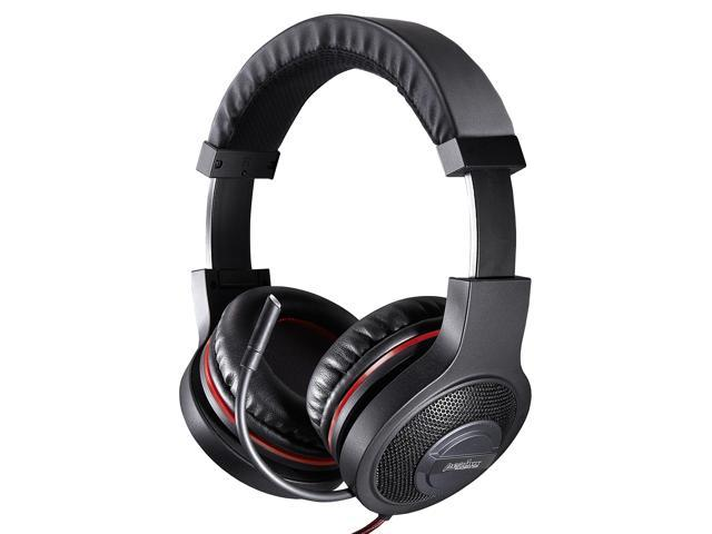 Perixx AX-1200, Gaming Headset - Gold Plated 3.5mm Audio Connector - 5.9Ft Braided Cable