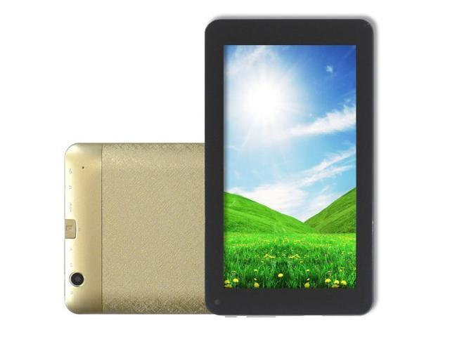 HAMSWAN 7 Inch Android 4.2 Dual Core VIA 8880 1.5GHz Tablet PC (512MB 4GB, Wi-Fi, HDMI, Dual Camera, Capacitive Touch) (Gold)