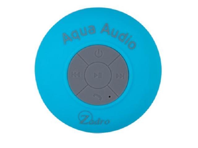 Zadro BLUE Aqua Audio Portable Bluetooth Water Resistant Shower Speaker