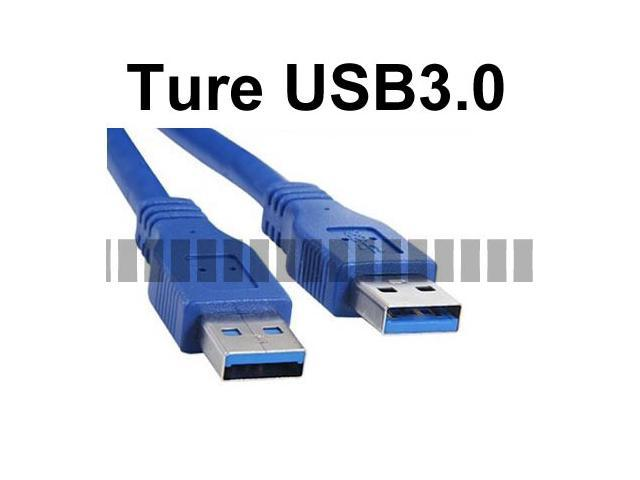 1.8M 5.9Ft Long Cable USB 3.0 Male to Male Cable AM-AM USB A Male to USB A Male Downward Compatible USB 2.0 - OEM