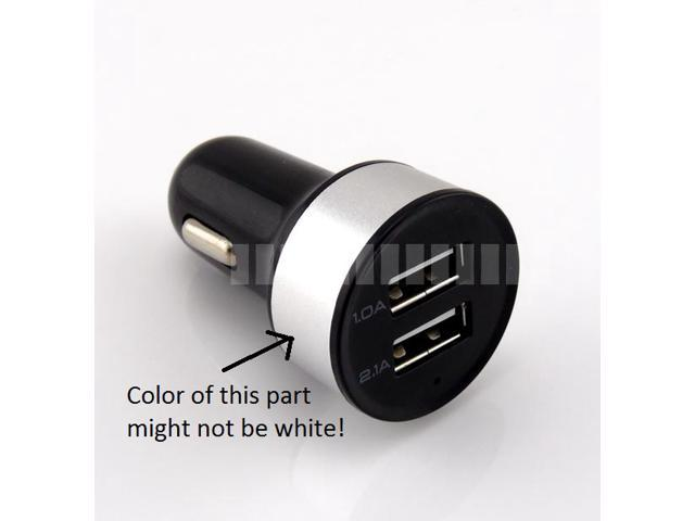 2.1A + 1A 2 Ports USB Car Charger with LED Light Indicator for Tablet Mobile Smart Cell Phone Apple iPad Air 4 Mini 3 2 ...
