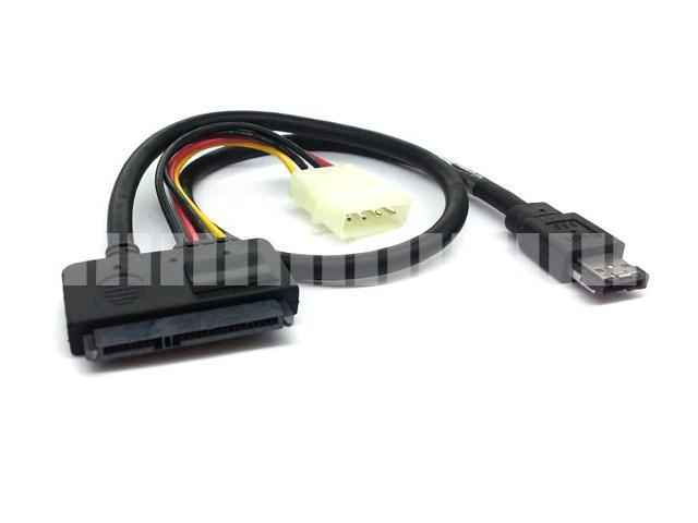 "50cm 20"" Adapter Cable 22 Pin ( 15 Pin + 7 Pin ) External Serial ATA eSATA to 7 Pin Power Over eSATA eSATAp with ..."