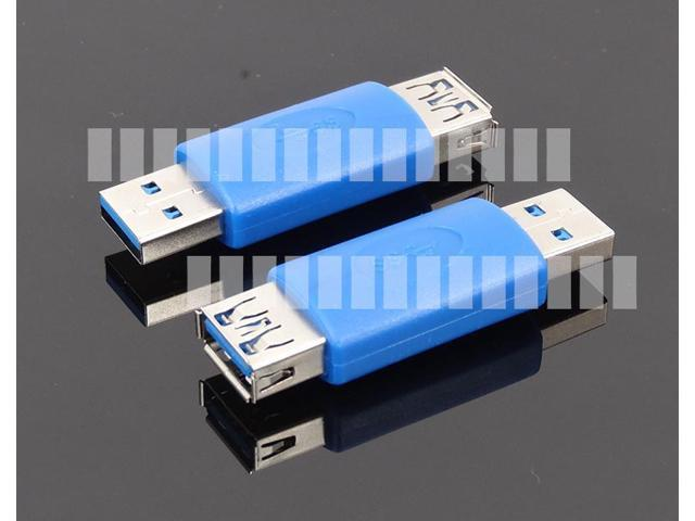 Standard USB 3.0 Male to Female AM to AF Adapter Converter Extender Connector Blue Internal Installation PC DIY Half Cover OEM