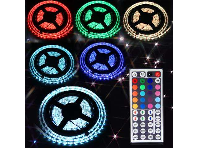 CBD 196 Inch 5050 RGB Waterproof 300 LED Light Strip + 44Keys IR Remote Controller Used for Outdoor lighting