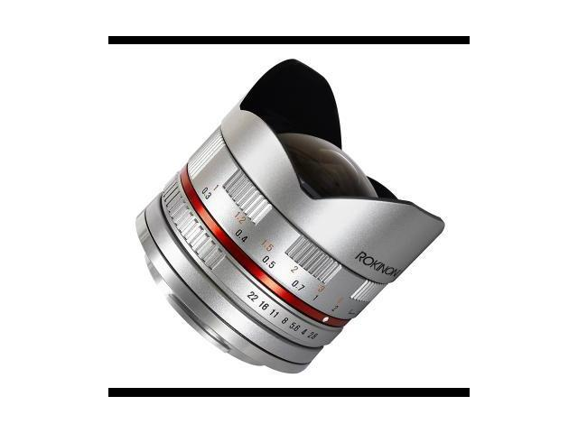 Rokinon 28Fe8sse Silver Camera Lens 8Mm F2.8 Umc Ultra Wide