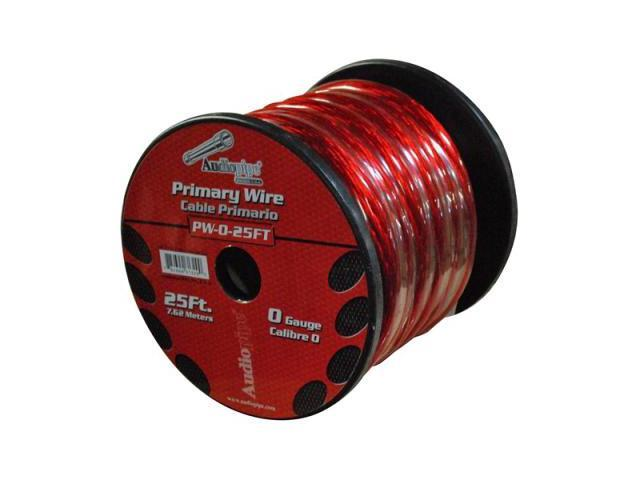 Audiopipe Pw025rd Red 0 Gauge 25' Spool Oxygen Free Power Cable