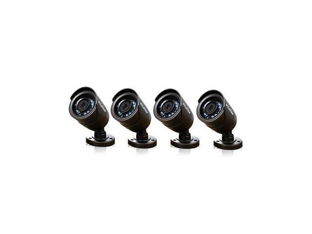 LaView LV-KCA14B6BP 4 PCS 600TVL12 Infrared LED Indoor/Outdoor Security Surveillance Day Night Camera Pack