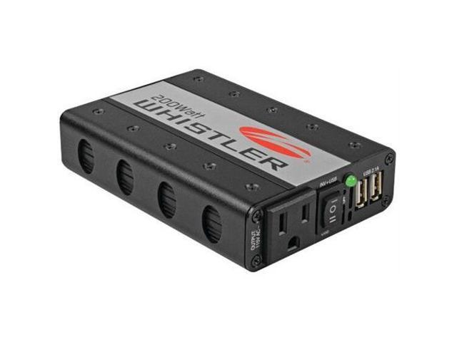 Whistler XP200I Power Inverter - Input Voltage: 12 V DC - Output Voltage: 5 V DC - Continuous Power: 200 W