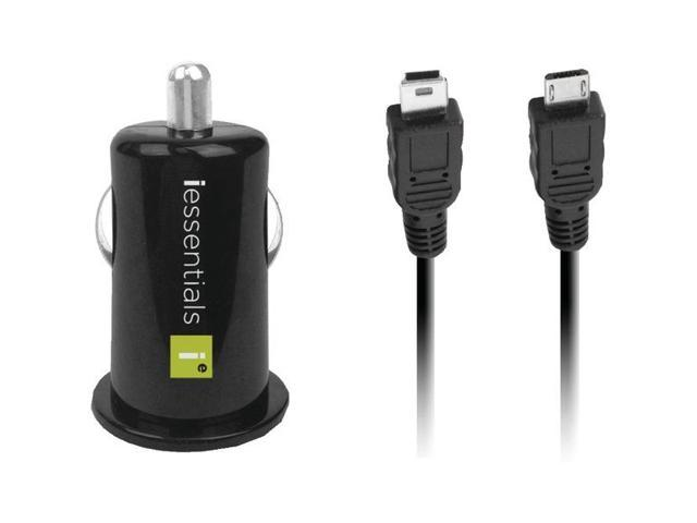 Iessentials Ie-pcp-2c Usb Car Charger With Micro & Mini Cables