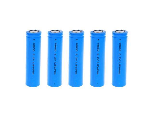 5x Exell Battery Li-FePO4 Size 18650 Rechargeable Battery 3.2V 1500mAh