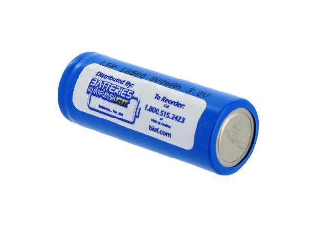 Exell Battery Li-FePO4 Size 18500 Rechargeable Battery 3.2V 800mAh