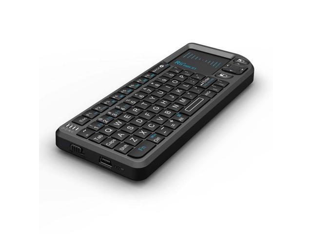 Riitek MINI X1 Black USB RF Wireless Mini Keyboard with Built-in TouchPad