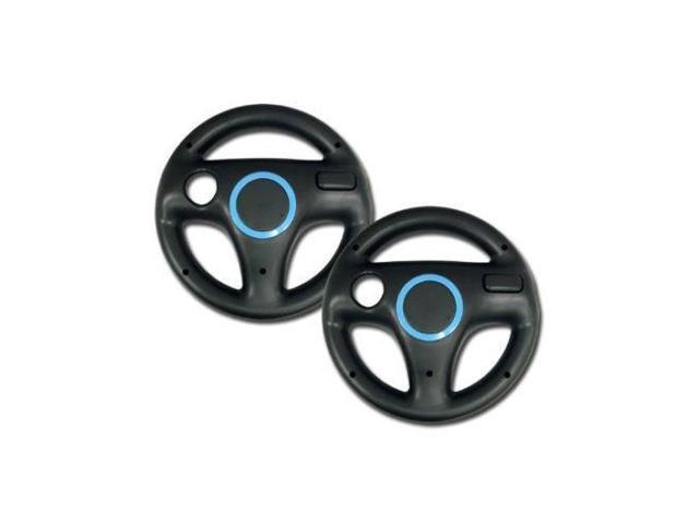 10027 Zettaguard 2pcs Mario Kart Racing Wheel for Nintendo Wii White