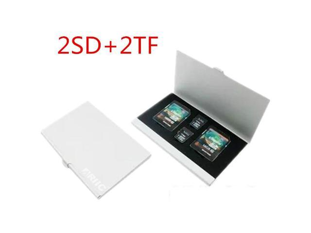 Ariic Metal Ant Aluminum 2X SD SDHC +2X TF Solts Slim Memory Card Protecter Case