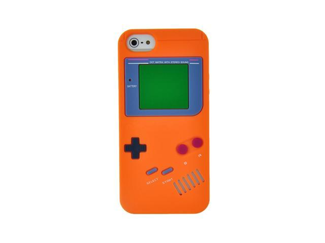 Orange Gameboy Skin Rubber Cover Back Soft Silicone Case Protector For iPhone 5 5S
