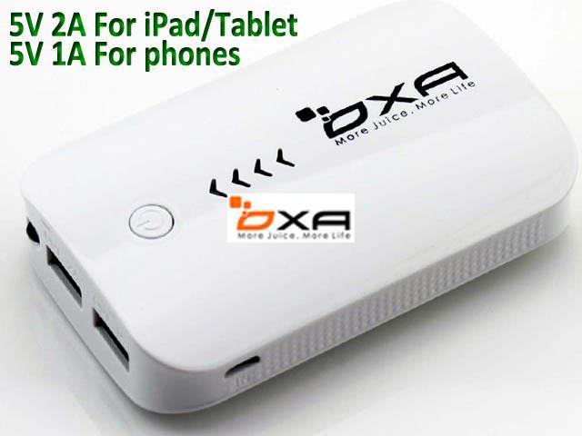 OXA 8400mAh Portable External Backup Battery Charger Dual USB Port Power Bank Torch for iPhone 5s,5c,5,4,4s,iPad Air,iPad Mini, iPod, Samsung ...