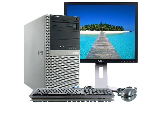 Dell Optiplex 960 Intel Core 2 Duo 3000 MHz 1 Terabyte HDD 4096mb DVD ROM Windows 7 Home Premium 32 Bit + 19