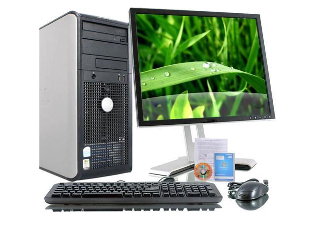 Dell Optiplex GX620 Intel Pentium 4 2800 MHz 400Gig HDD 4096mb DVD ROM Windows 7 Home Premium 32 Bit + 17