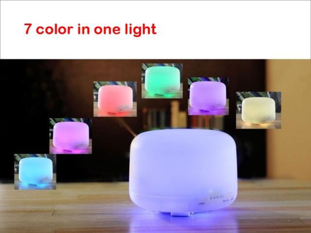 500ml Aroma Diffuser Ultrasonic Humidifier LED Color Changing Lamp Light Ionizer
