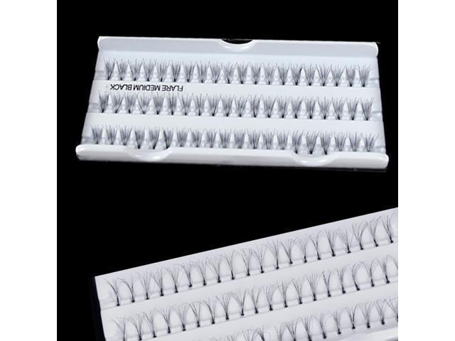 60 Individual Fake Eyelash Cluster Eye Lashes Extension Tray Make up Black