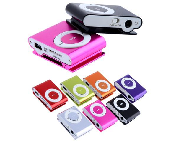 Support 1 - 8GB Micro SD TF Mini Fashoin Clip Metal USB MP3 Music Media Player