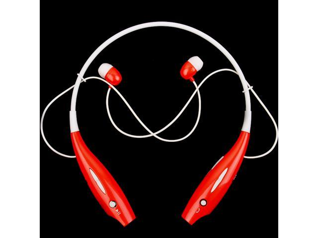 Wireless Bluetooth Stereo Headset Neckband Style Red For LG Tone (HBS-700)
