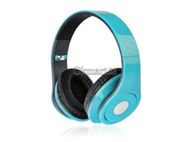 Adjustable Over-Ear Earphone Headphone 3.5mm for iPod MP3/4 PC iPhone Music Light Blue