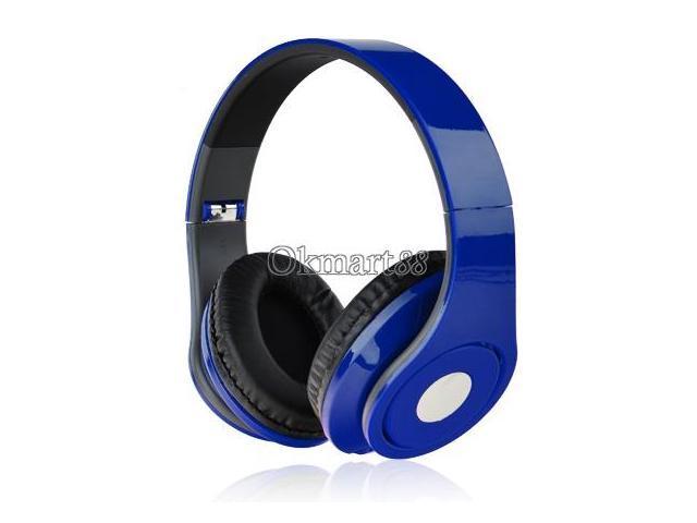 Adjustable Over-Ear Earphone Headphone 3.5mm for iPod MP3/4 PC iPhone Music Deep Blue