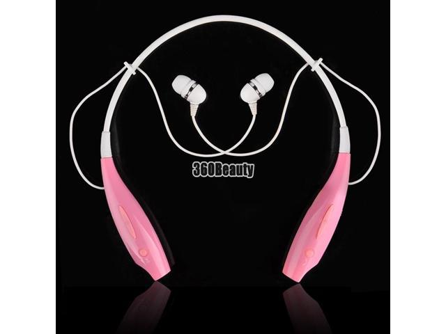 Pink For HTC LG TONE Wireless Bluetooth Stereo Headset HBS-700 Earphone