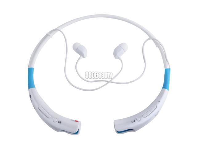 HBS-740 Wireless Bluetooth Universal Stereo Headset Neckband Style Blue+White