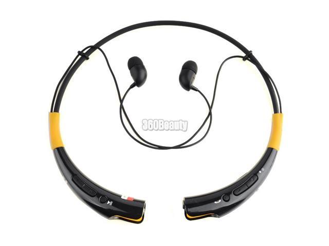 HBS-740 Wireless Bluetooth Universal Stereo Headset Neckband Style Black+Yellow