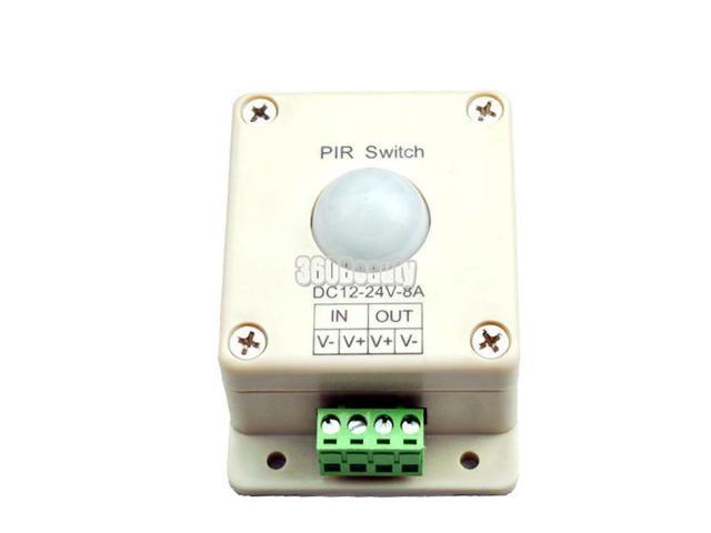 New PIR Switch 8A PIR Motion Sensor DC 12-24V For LED Strip Light Bulb Infrared